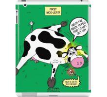 Cow First Moo-lert Emergency Response System iPad Case/Skin