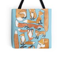Foxes Collage Tote Bag