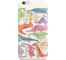 Dinosaur Collage iPhone Case/Skin