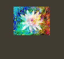 Water Lily with iridescent water drops Womens Fitted T-Shirt
