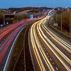 Motorway Light Trails by Glen Allen