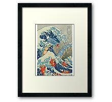 THE GREAT WAVE OFF KANAGAWA POKEMON Framed Print