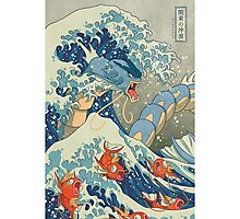 THE GREAT WAVE OFF KANAGAWA POKEMON Photographic Print