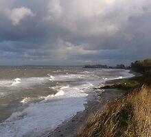 Autumnal storm at the Baltic Sea by jchanders