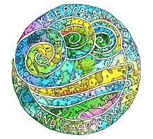 Keep Calm And Carry Om Mandala by mishyrowan