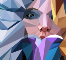 Low Poly Crystal Maiden Sticker