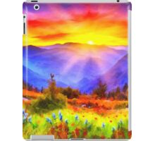 Colorful abstract landscape iPad Case/Skin