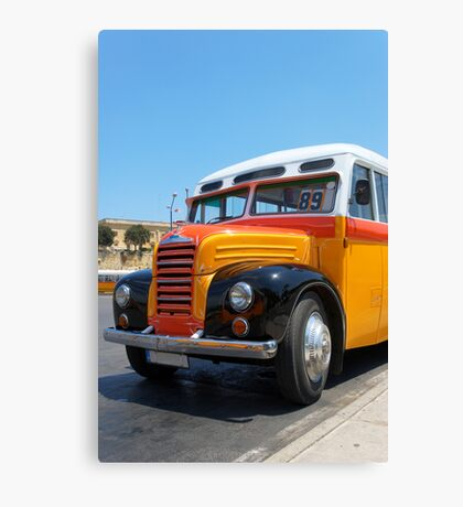 Old Maltese Bus (1952)  Canvas Print