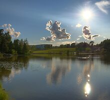 Lake and Sun HDR  by Stanislav Sokolov