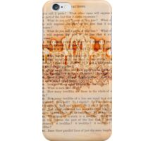 Burned Chandelier print, on old book page iPhone Case/Skin