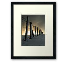 Mount Caburn Snow Framed Print