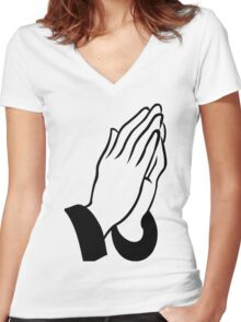 DEAN BLUNT - THE REDEEMER (transparent) Women's Fitted V-Neck T-Shirt