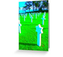 Normandy War Graves Greeting Card