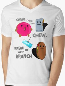 Break Up With Brunch - Chew Generic Chewing Gum Mens V-Neck T-Shirt
