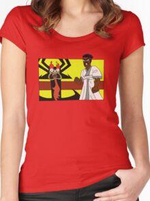 Samurai Black Dynamite Women's Fitted Scoop T-Shirt