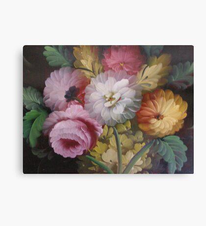 JACOBEAN FLORAL PAINTING Canvas Print