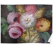 JACOBEAN FLORAL PAINTING Poster