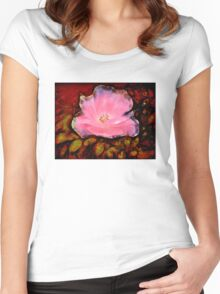 Pink Crystal Rose Women's Fitted Scoop T-Shirt