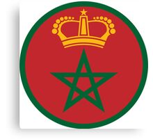 Roundel of the Royal Moroccan Air Force Canvas Print