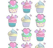 Sweet cupcakes by geminiska