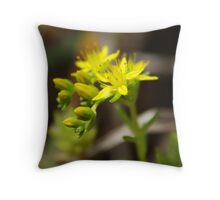 Yellow Cremorne Point Flowers Throw Pillow