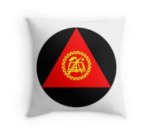 Roundel of Mozambique Air Force Throw Pillow