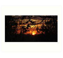 Sunset 10/31 Art Print