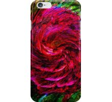 Red rose swirl iPhone Case/Skin