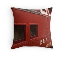 Old Reading Railroad Caboose in Lititz Throw Pillow
