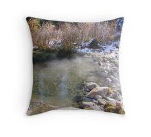 Idaho Hot Springs Throw Pillow