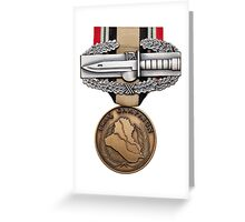 OIF Combat Action Badge Greeting Card