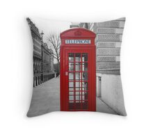 London Telephone Box Throw Pillow