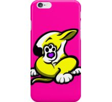English Bull Terrier Kicking Back Yellow and White  iPhone Case/Skin