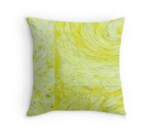 Yellow Sickle Throw Pillow
