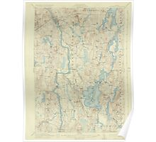 Maine USGS Historical Map Livermore 306646 1912 62500 Poster