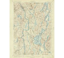 Maine USGS Historical Map Livermore 306646 1912 62500 Photographic Print