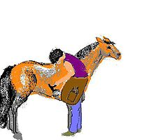 Shoeing Fat Pony by Carole Boyd