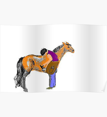Shoeing Fat Pony Poster