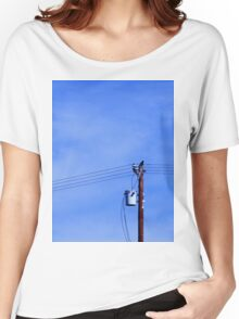 Crow on a Telephone Pole Women's Relaxed Fit T-Shirt