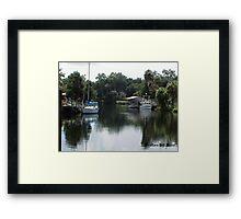 Yankee Town Coast Guard Station Framed Print