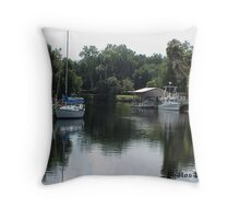 Yankee Town Coast Guard Station Throw Pillow