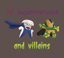 lil' heroes and villains: getic and surge... T-Shirt