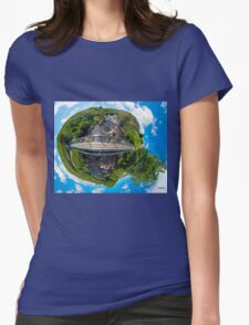 Footbridge over Glen River, Carrick, SW Donegal Womens Fitted T-Shirt