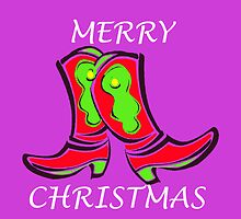 MERRY CHRISTMAS BOOTS by Sharon Robertson