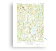 Maine USGS Historical Map Livermore 460571 1941 62500 Canvas Print