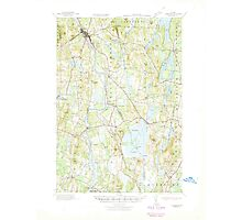 Maine USGS Historical Map Livermore 460571 1941 62500 Photographic Print