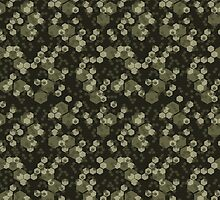 Hexagon Camo - Greens by Ely Prosser