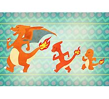 Fire starters - Pokemon (Gen1) Photographic Print