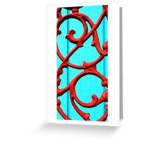 red wrought iron Greeting Card
