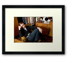 Heavy Boots Framed Print